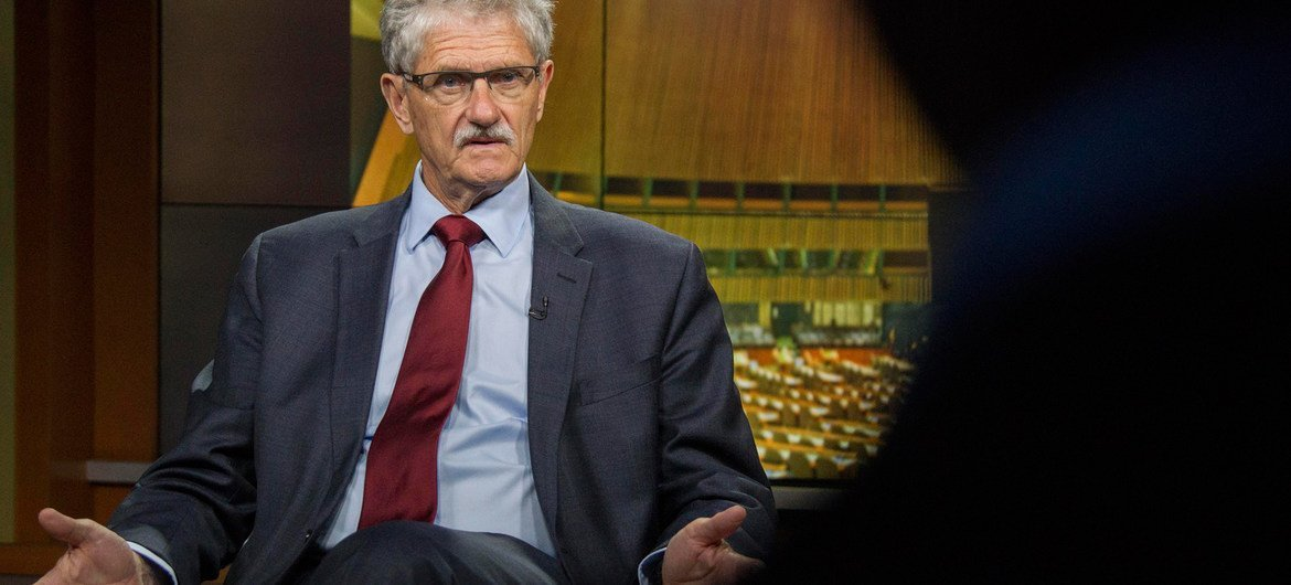 Mogens Lykketoft, President of the seventieth session of the General Assembly, gives an interview for the UN News on the Assembly's work during its current session.