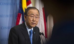Secretary-General Ban Ki-moon delivers remarks on the situation on the Korean Peninsula.