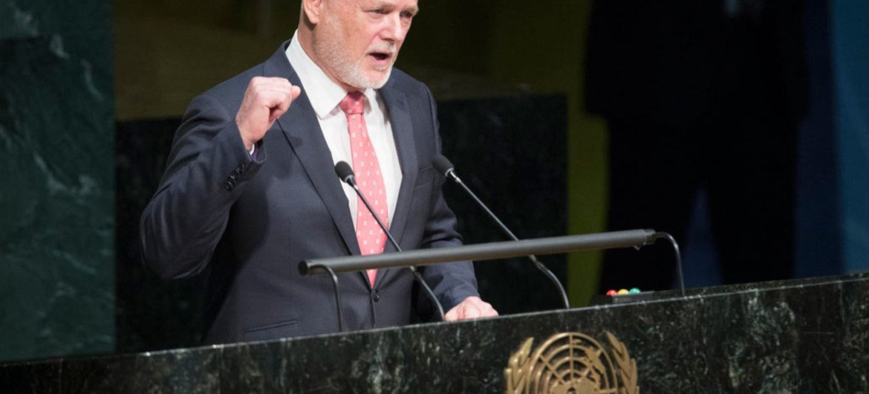 Peter Thomson, presidente de la Asamblea General de la ONU. Foto: ONU/Manuel Elias