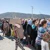 A Athènes, en Grèce, des réfugiés et migrants dans le camp de Skaramagas. Photo UNICEF/Gripiotis