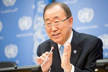 潘基文秘书长资料图片。联合国图片/Rick Bajornas