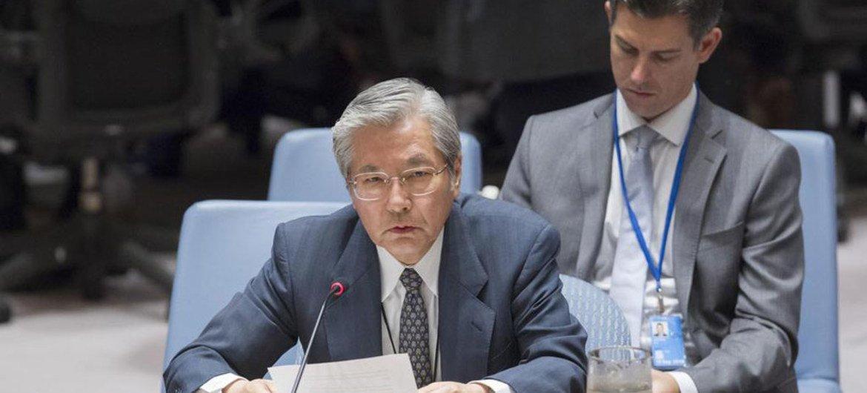 秘书长阿富汗事务特别代表兼联合国驻阿富汗援助团负责人山本忠通在安理会做情况通报。(资料)联合国图片/JC McIlwaine
