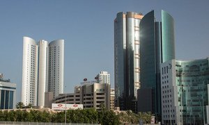 Skyline in Bahrain.