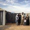 在约旦的一家叙利亚难民。