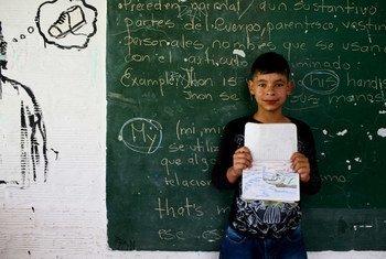Sebastian, 8 ans, participe à un programme spécial destiné aux étudiants avec des problèmes de disciplines et des foyers tourmentés à La Ceja, Antioquía, Colombie.