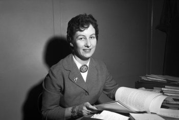 21 March 1958 – Margaret Anstee, shown here during her tenure as Officer-in- Charge of the Technical Assistance Board Field Office in Montevideo, Uruguay.