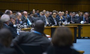 Delegates and Member States' representatives at the 1442nd Board of Governors Meeting. IAEA, Vienna, Austria, 19 September 2016.