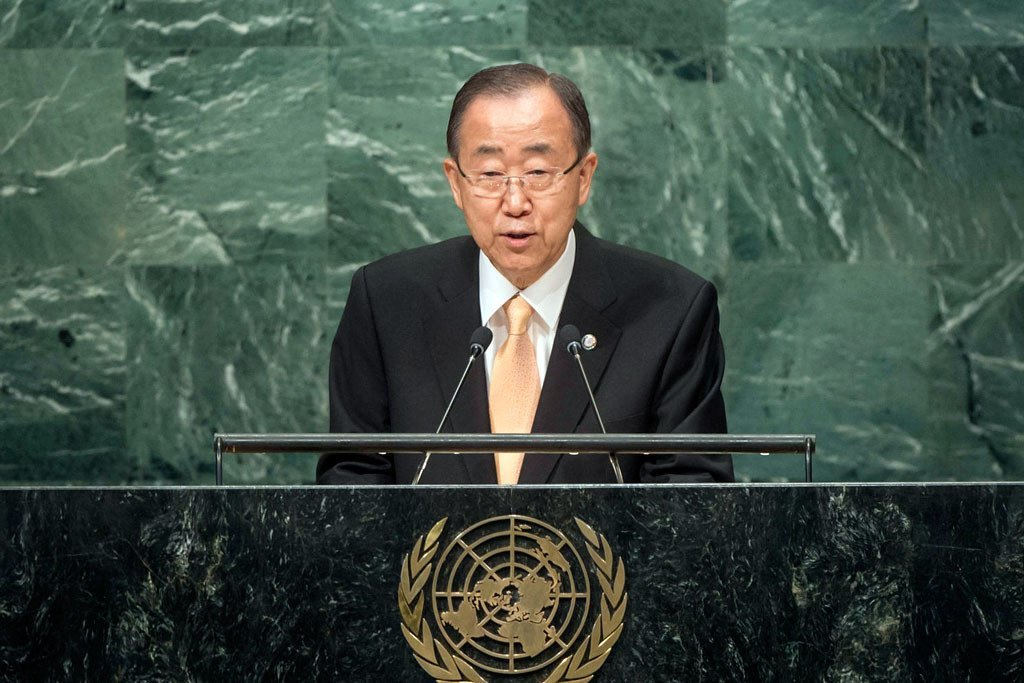 Secretary-General Ban Ki-moon presents his annual report on the work of the Organization at the opening of the general debate of the General Assembly's seventy-first session.