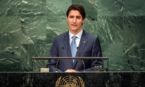 Prime Minister Justin Trudeau of Canada addresses the general debate of the General Assembly's seventy-first session.