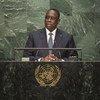 Le Président du Sénégal, Macky Sall, devant l'Assemblée générale des Nations Unies. Photo ONU/Cia Pak