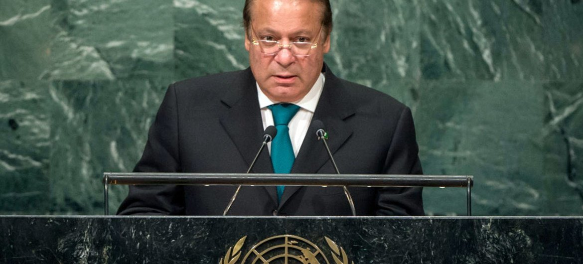 Prime Minister Muhammad Nawaz Sharif of Pakistan addresses the general debate of the General Assembly's seventy-first session.