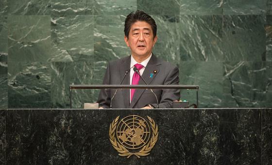 Primeiro-ministro do Japão, Shinzo Abe.