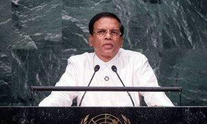 President Maithripala Sirisena of Sri Lanka addresses the general debate of the General Assembly's seventy-first session.