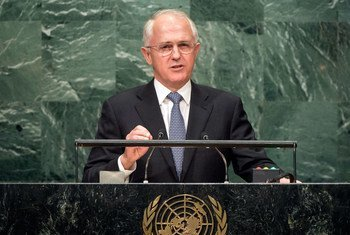 Prime Minister Malcolm Turnbull of Australia addresses the general debate of the General Assembly's seventy-first session.