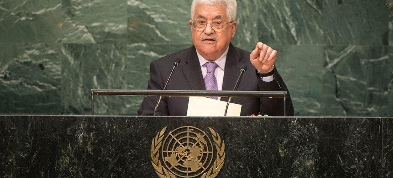 Mahmoud Abbas, presidente del Estado de Palestina. Foto: ONU/Cia Pak