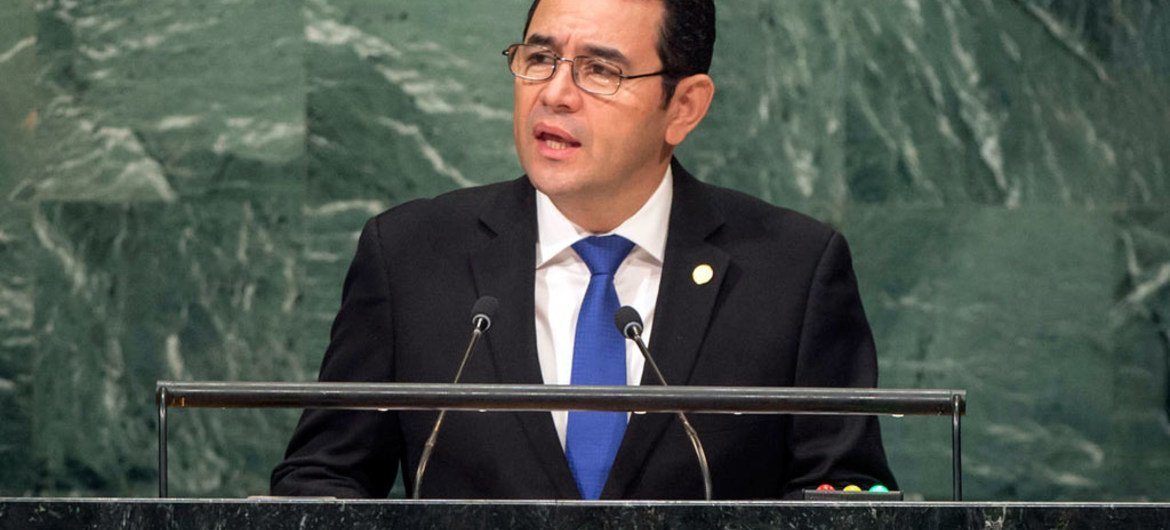 President Jimmy Morales of Guatemala addresses the general debate of the General Assembly's seventy-first session.