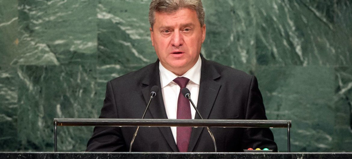 President Gjorge Ivanov of the former Yugoslav Republic of Macedonia addresses the general debate of the General Assembly's seventy-first session.