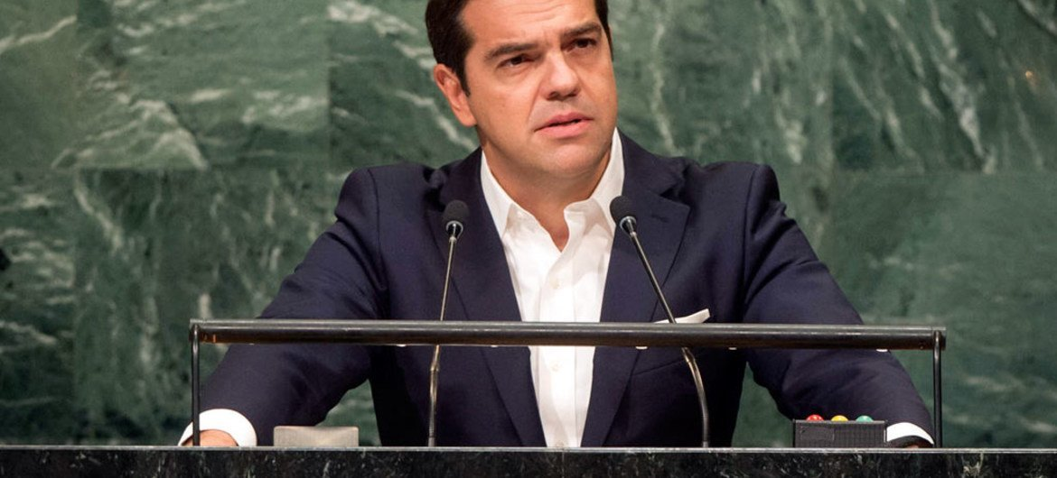 Prime Minister Alexis Tsipras of Greece addresses the general debate of the General Assembly's seventy-first session.