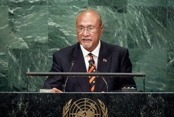Puka Temu, Special Envoy of the Primie Minister and Minister for Public Service of Papua New Guinea, addresses the general debate of the General Assembly's seventy-first session.