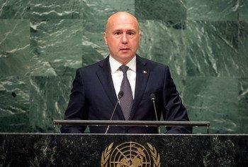 Премьер-министр Республики Молдова Павел Филип выступает на 71-й сессии Генеральной Ассамблеи ООН. Фото ООН/Сиа Пак