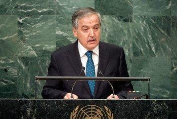 Министр иностранных дел Таджикистана СироджиддинСироджиддин Аслов Фото ООН/Чиа Парк