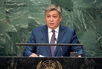 Министр иностранных дел Кыргызстана Эрлан Абдылдаев Фото ООН/Чиа Пак