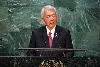 菲律宾外长亚赛(Perfecto Yasay)今天在联大一般性辩论中发言。联合国图片/Manuel Elias