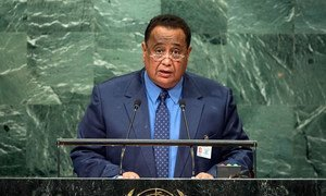 Foreign Minister Ibrahim Ahmed Abd al-Aziz Ghandour of Sudan addresses the general debate of the General Assembly's seventy-first session.