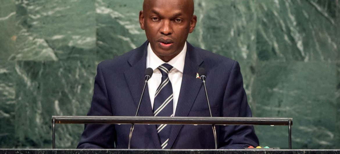 Alain Aimé Nyamitwe, Minister of External Affairs and International Cooperation of Burundi,  addresses the general debate of the seventy-first session of the General Assembly.