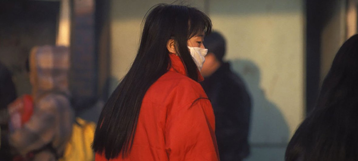 A woman wears a medical mask in China. (file photo)
