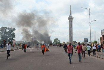 Manifestantes en Kinshasa. Foto:  Habibou Bangre/IRIN