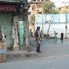 Mwaname akipita kwenye mpaka wa India na Kashmir katika mji wa Srinagar katika jimbo  la Jammu