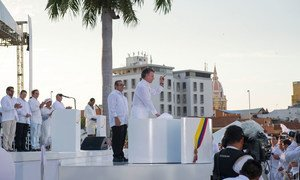 Signing ceremony of the Colombian peace agreement in Cartagena. 26 September 2016.