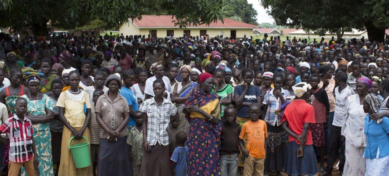 Desplazados en los alrededores de Yei,Sudán del Sur. Foto: ACNUR/Rocco Nuri