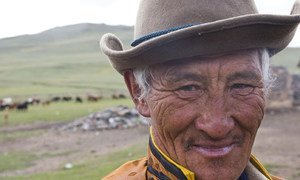 A herder in Tarialan, Uvs Province, Mongolia. (file photo)