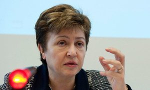 Кристалина Георгиева, глава МВФ.