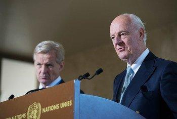 Staffan de Mistura, enviado especial de la ONU para Siria. Foto de archivo: ONU/Elma Okic