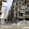 深陷冲突中阿勒颇。图片来源:Tom Westcott/IRIN