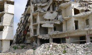 La plupart des Syriens restés à Alep son trop pauvres pour partir. Photo Photo Tom Westcott/IRIN