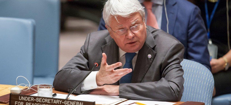 Hervé Ladsous en el Consejo de Seguridad. Foto de archivo: ONU/Loey Felipe