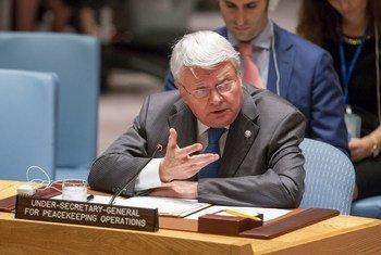 负责维和事务的副秘书长拉德苏。联合国图片/Loey Felipe