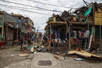 Hurricane Matthew made landfall in Haiti causing widespread damage in the western cities of Les Cayes and Jeremie.