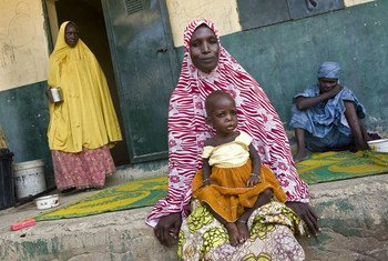 Displaced girl suffering from malnutrition in Kuya camp, Monsuno, Nigeria.