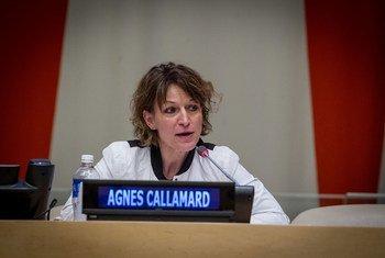 Relatora de direitos humanos das Nações Unidas, Agnes Callamard.