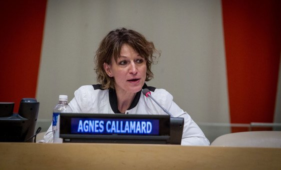 Agnes Callamard, UN Special Rapporteur on Extra-Judicial summary or arbitrary Executions.