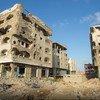 Des bâtiments bombardés à Aden, au Yémen. (archive)