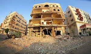 Le quartier de Dar Sa'ad, à Aden, au Yémen. La reprise de la cessation des hostilités au Yémen est prévue à partir de mercredi.