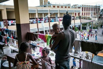 In Les Cayes, Haiti, hundreds of people who have lost their homes are sheltering in a neighbourhood high school.