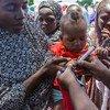 Muitas das crianças foram imunizadas em suas próprias casas, mercados, escolas, igrejas e mesquitas.
