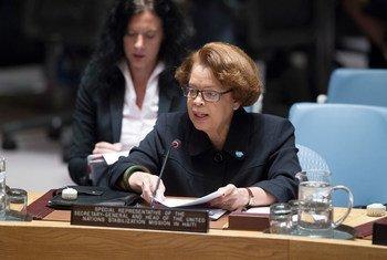 Sandra Honoré, representante especial del Secretario General y jefa de la Misión de Estabilización de la ONU en Haití. Foto de archivo: UN / Manuel Elias
